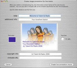 Backbone Radio Image Annotation